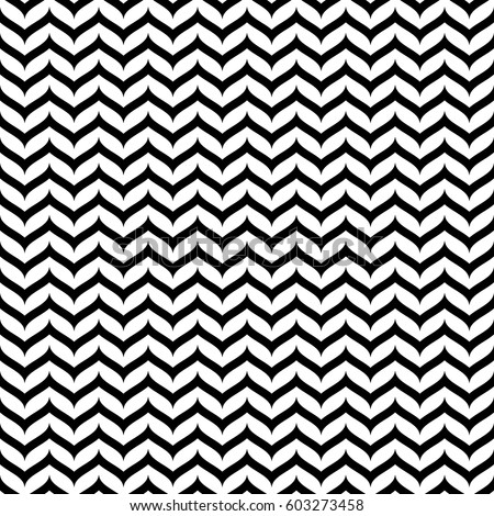 Vector seamless pattern, black & white horizontal smooth zig-zag wavy lines. Simple striped monochrome texture. Abstract repeat background. Design element for prints, decoration, textile, digital, web