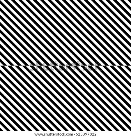 Vector seamless pattern. Decorative element, design template with striped black white diagonal inclined lines. Background, texture with figurative geometry. Dynamic tiles for card, app, web cover.