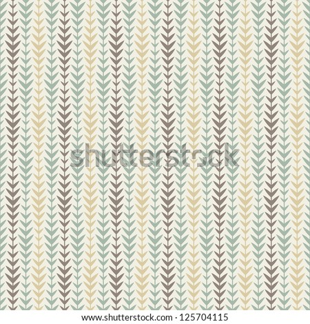 Vector seamless pattern. Floral background with geometric branches
