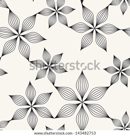 Vector seamless pattern. Floral stylish background. Delicate texture with flowers