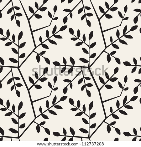 vector seamless pattern. floral texture with branches