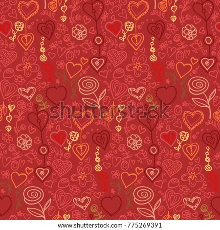 stock-vector-vector-seamless-pattern-flowers-and-hearts-valentine-s-day