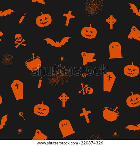 vector seamless pattern for Halloween