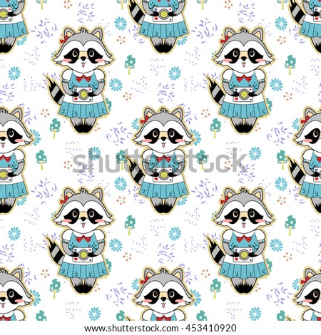 vector seamless pattern forest