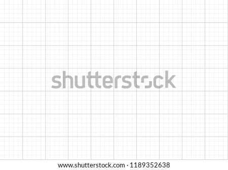 Vector Seamless Pattern, Graph Paper Background, Blank Backdrop Template.