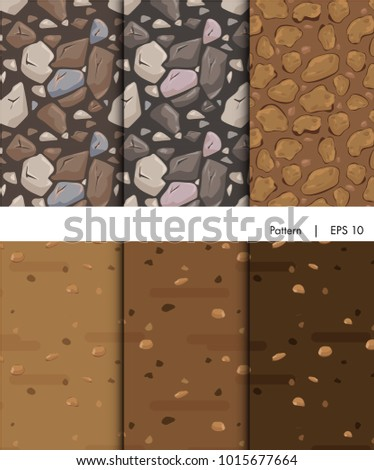 vector seamless pattern ground