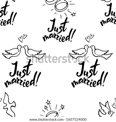 vector seamless pattern   hand