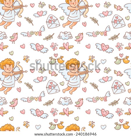 vector seamless pattern in