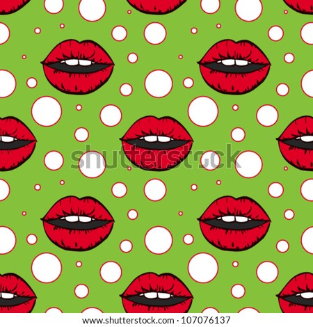 vector seamless pattern in pop art style