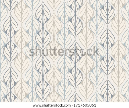 vector seamless pattern inspired by retro wallpaper designs in pastel colors Foto stock ©
