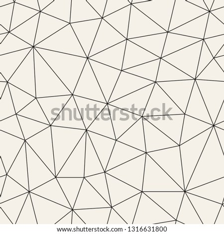 Vector seamless pattern. Irregular abstract linear grid. Graphical hand drawn background. Reticulated monochrome texture. Hipster modern print. Contemporary graphic design