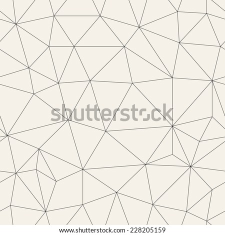 Vector seamless pattern. Irregular abstract linear grid. Graphical hand drawn background. Reticulated monochrome texture
