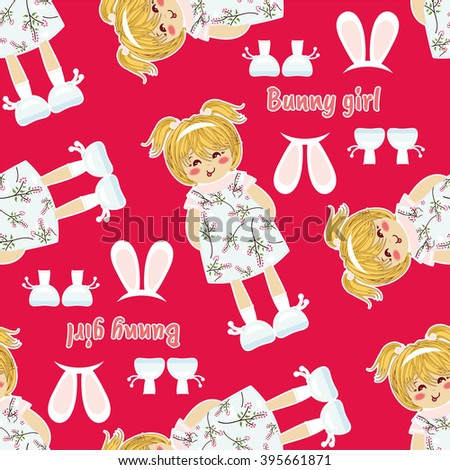 vector seamless pattern kawaii