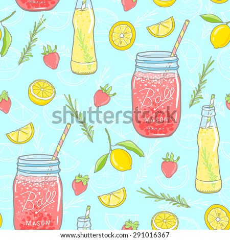 vector seamless pattern lemon