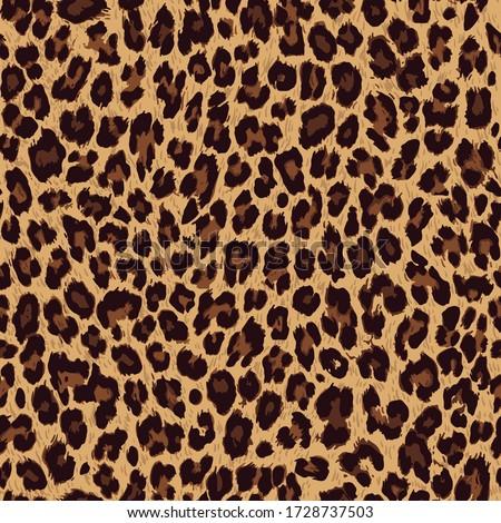 Vector seamless pattern. Leopard skin texture
