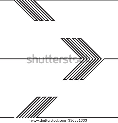Vector Seamless Pattern . Lines Design .