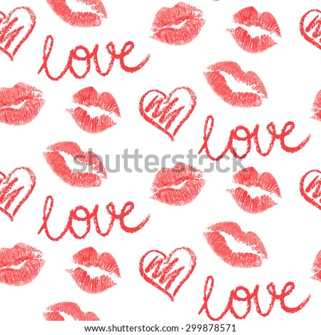vector seamless pattern   lips