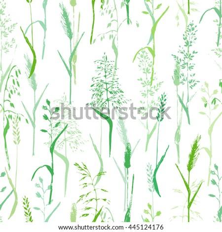 vector seamless pattern meadow