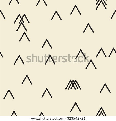 Vector seamless pattern. Modern monochrome geometric background