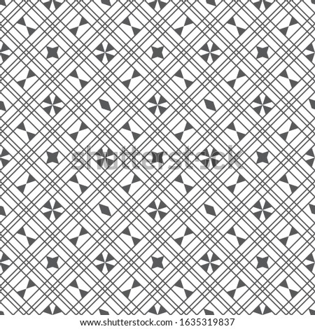 Vector seamless pattern. Modern simple geometrical texture. Abstract regularly repeating background with rhombus linear grid, rhombuses, triangles. thin line.