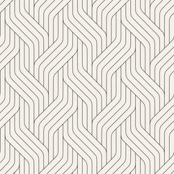 Vector seamless pattern. Modern stylish texture. Geometric striped ornament. Monochrome linear braids