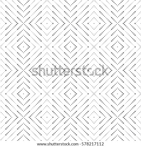 Vector seamless pattern. Modern stylish texture in the form of rhombus tiles. Regularly repeating geometric shapes, dotted rhombuses, diamonds. Vector element of graphical design