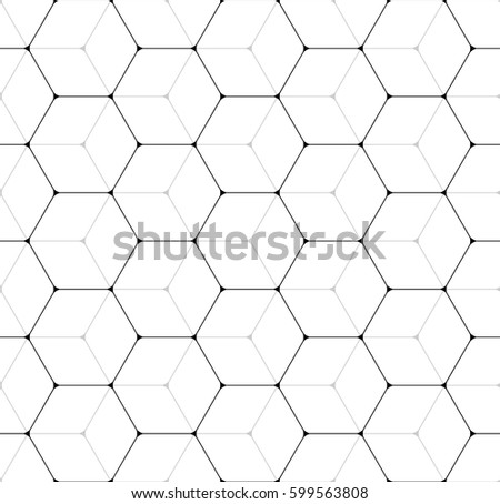 Vector seamless pattern. Modern stylish texture. Repeated geometric pattern. A lattice of hexagonal cells.