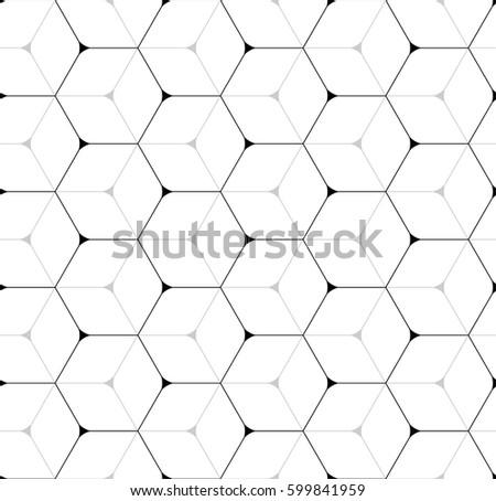 Vector seamless pattern. Modern stylish texture. Repeated geometric pattern. A lattice of hexagonal cells.