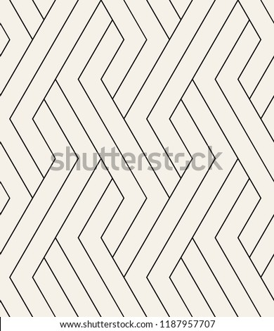 Vector seamless pattern. Modern stylish texture. Repeating geometric background. Striped hexagonal grid. Linear graphic design. Can be used as swatch for illustrator.
