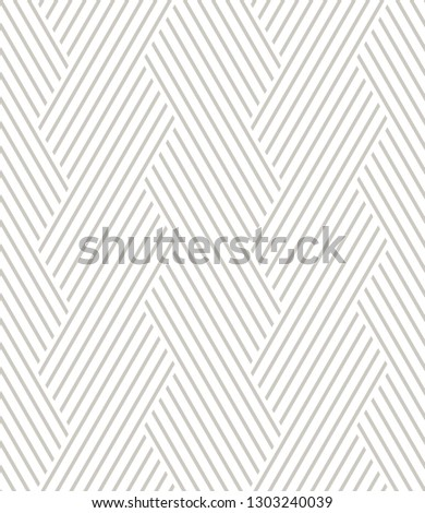 Vector seamless pattern. Modern stylish texture. Repeating geometric background. Striped hexagonal grid. Light grey tileable design. Can be used as swatch for illustrator.