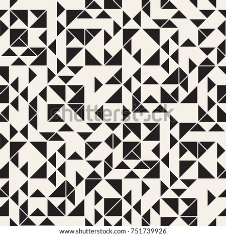 Vector seamless pattern. Modern stylish texture. Repeating geometric tiles. Composition with random triangles.