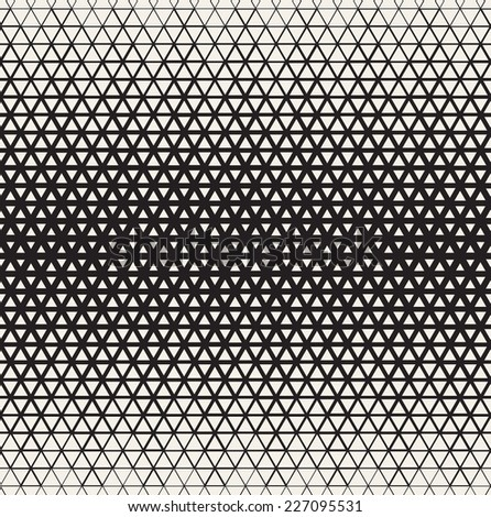 Vector seamless pattern Modern stylish texture Repeating geometric tiles from triangles Monochrome grid with thickness which changing towards the center