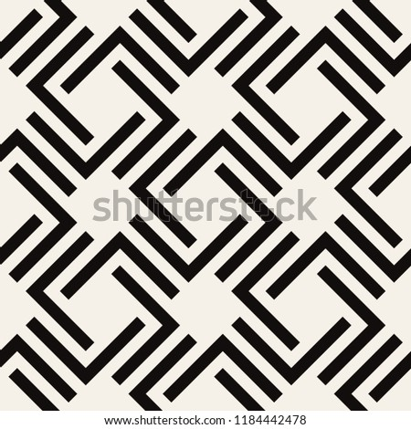 Vector seamless pattern. Modern stylish texture. Repeating geometric tiles with bold rectangular elements.