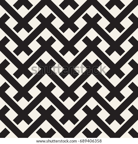 Vector seamless pattern. Modern stylish texture. Repeating geometric tiles with bold rectangular grid.