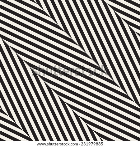 Vector seamless pattern Modern stylish texture Repeating geometric tiles with diagonal zigzag or herringbone
