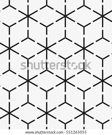 Vector seamless pattern. Modern stylish texture. Repeating geometric tiles with hexagonal grid. Contemporary graphic design.