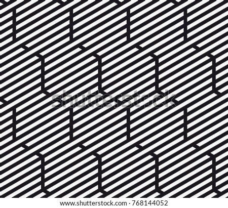 Vector seamless pattern. Modern stylish texture. Repeating geometric tiles with hexagonal grid.