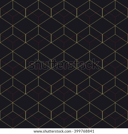Vector seamless pattern. Modern stylish texture. Repeating geometric tiles with rhombuses