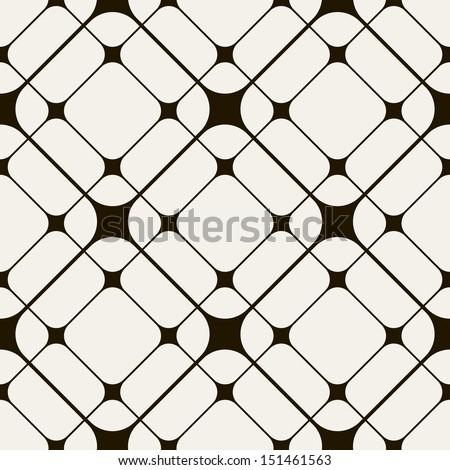 Vector seamless pattern. Modern stylish texture. Repeating geometric tiles with smooth rhombuses