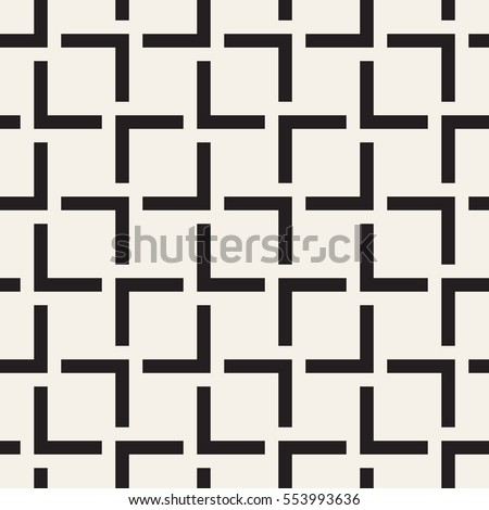 Vector seamless pattern. Modern stylish texture. Repeating geometric tiles with striped squares.