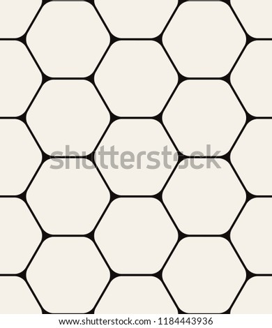 Vector seamless pattern. Modern stylish texture. Repeating geometric tiles with thin hexagonal grid. Contemporary graphic design.