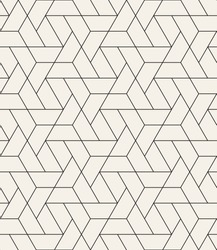 Vector seamless pattern. Modern stylish texture with monochrome trellis. Repeating geometric triangular grid. Simple graphic design. Trendy hipster sacred geometry.