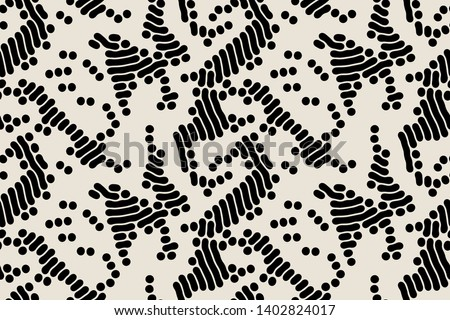 Vector seamless pattern. Modern stylish texture with smooth natural grid. Repeating abstract  tileable background. Compound organic shapes. Trendy surface design. Can be used as swatch in Illustrator.