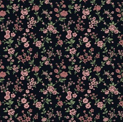 vector seamless pattern of a millefleurs design with little cute flowers, romantic spring blossoms, boho chic