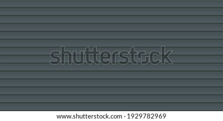 Vector seamless pattern of black wavy slate. Galvanized iron sheet. Colored corrugated metal roofing sheet texture background. Metal roof, metal siding, profiled sheeting for covering or fencing. Foto stock ©