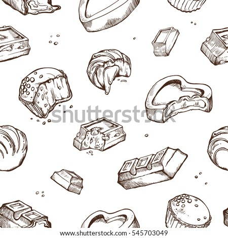 vector seamless pattern of hand