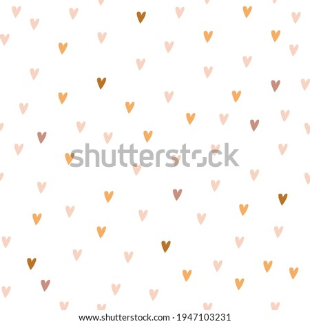 Vector seamless pattern of pastel color in boho style. Simple  heart pattern for textile. Digital paper Boho rainbow style. Stock photo ©