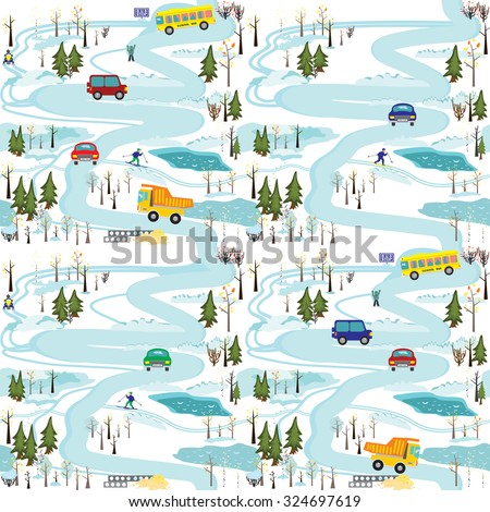 vector seamless pattern of the