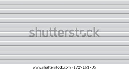 Vector seamless pattern of white wavy slate. Galvanized iron sheet. Colored corrugated metal roofing sheet texture background. Metal roof, metal siding, profiled sheeting for covering or fencing. Сток-фото ©