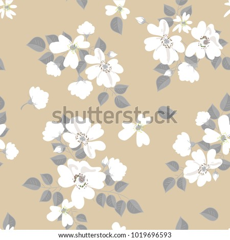 vector seamless pattern of wild